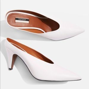 TOPSHOP White Mules